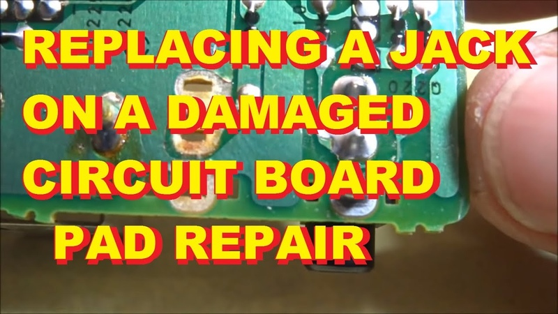 Replacing a jack on a circuit board when the copper pads are missing Repair Fix