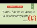 ПК003 - Python на сайте Codecademy - третий блок уроков