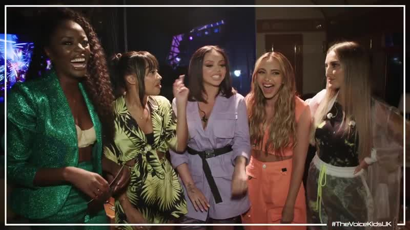 AJ catches up with Little Mix (The Voice Kids UK 2019)