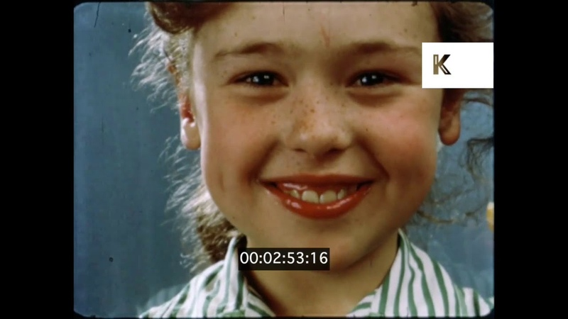1960s UK Children Eating Sweets Cakes Unhealthy Sugary Food 16mm
