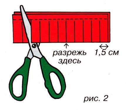 Первые поделки из бумаги (вместе с мамой) - Бумажный фонарик Вам понадобятся: прямоугольный лист цветной бумаги, линейка, простой карандаш, ножницы, клей. Лист цветной бумаги положи белой
