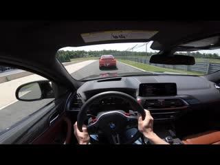 Bmw x4 m competition 510hp_ pov–тест на гоночном треке