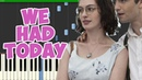 We Had Today-One Day Theme (Piano Tutorial Synthesia)