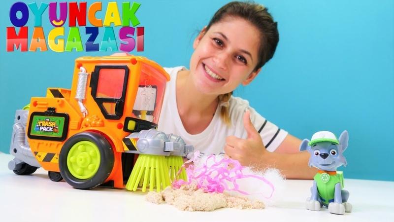Paw Patrol videosu. Yeni oyuncak - ekstra temizlik makinesi! Ayşenin oyuncak mağazası