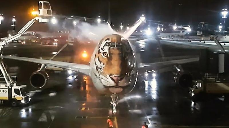 Боинг 747 Тигролет Зима Деайсинг