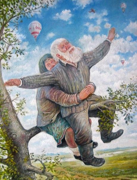 Счастливая старость глазами художника Леонида Баранова Тематика работ художника из Первоуральска быт, культура, традиции простого русского народа. Баранов создал много портретов, передающих