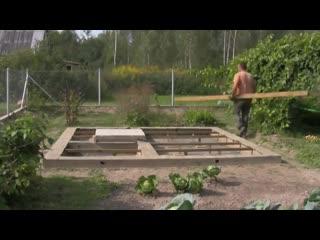 Процесс строительства бани