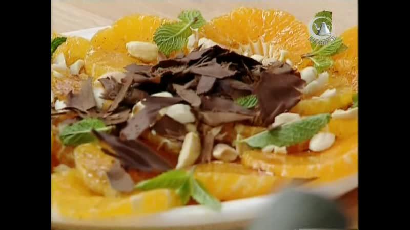 Жить вкусно с Джейми Оливером. 46 серия: салат из мандаринов, окунь с овощами, салат из грейпфрута с крабовым мясом