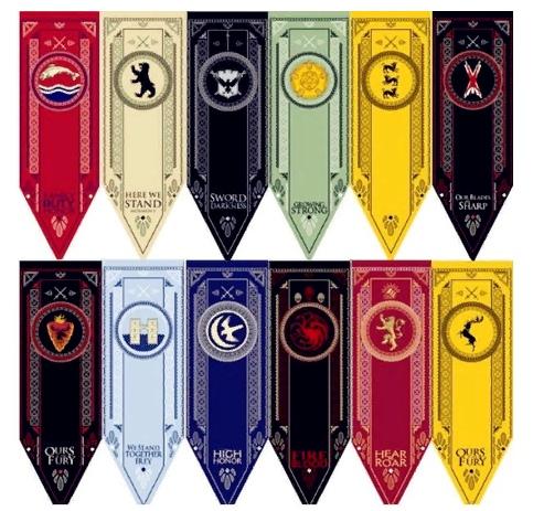 Флаги из Игра престолов