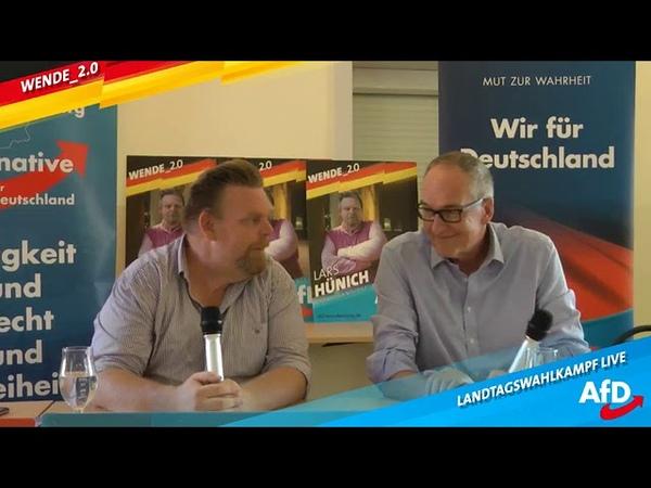 AfD Bürgerdialog Medien Seenotrettung Migration mit Lars Hünich AfD Roman Reusch AfD MdB