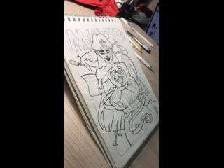 Рисую лайн китайской тушью и пером