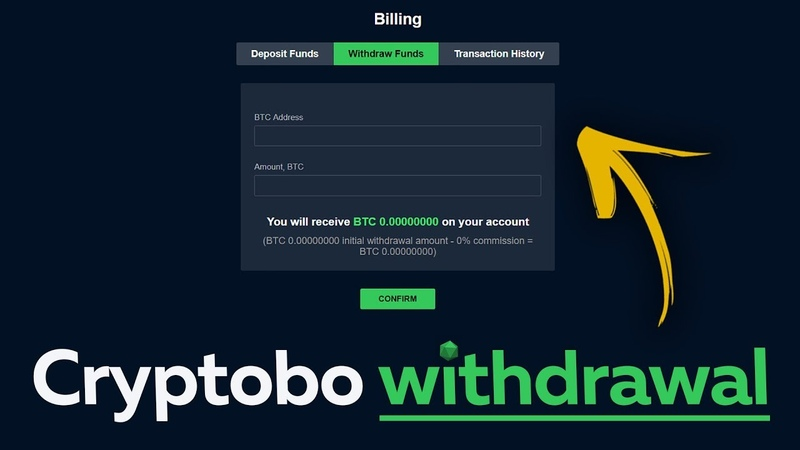 Cryptobo withdrawal. How to make a withdrawal with Cryptobo. Conclusion 0.05 Btc