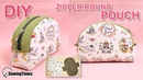 DIY ZIPPER ROUND POUCH BAG 반달 파우치 | Makeup Pouch Sewing Tutorial Free Pattern sewingtimes