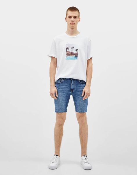 Джинсовые шорты скинни