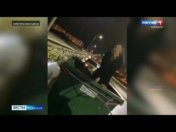 Молодого чебоксарца ждет наказание за веселые покатушки с мусорным баком