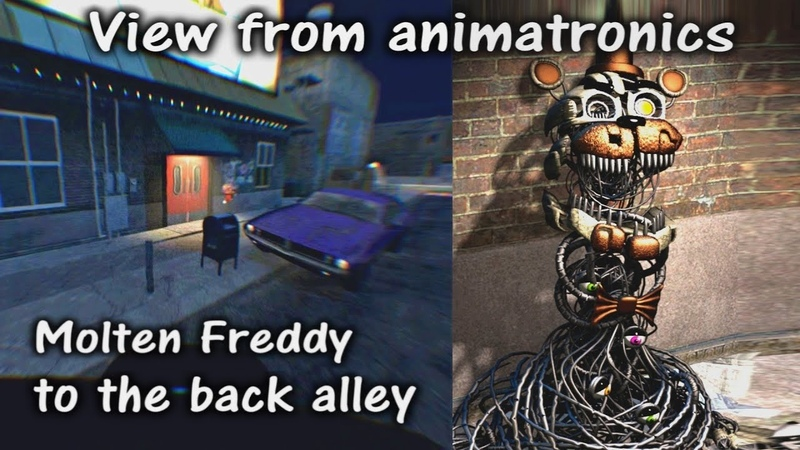 [FNAFSFM] FNAF6 Molten Freddy to the Back Alley - view from animatronic