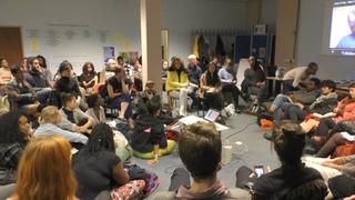 Resistance is in the cracks, a circular talk by Fannie Sosa