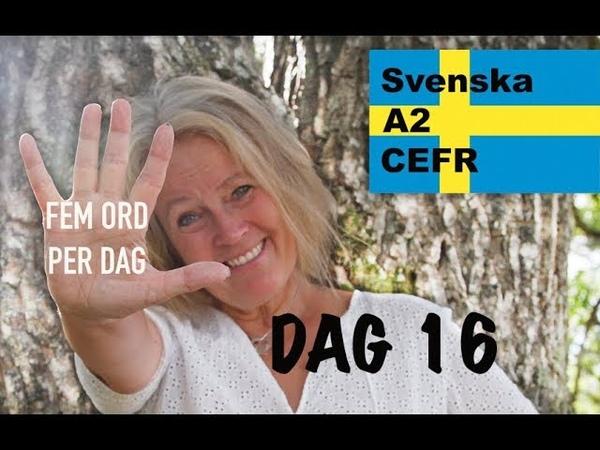 Lär dig svenska Dag 16 Fem ord per dag A2 nivån CEFR Learn Swedish 71 undertexter