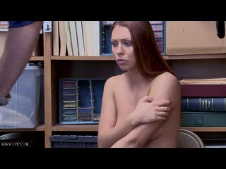 Morgan Rodriguez aka Ornella Morgan Redhead, In the office, With talk, Hidden camera, Robber, Cumshot in mouth, With t