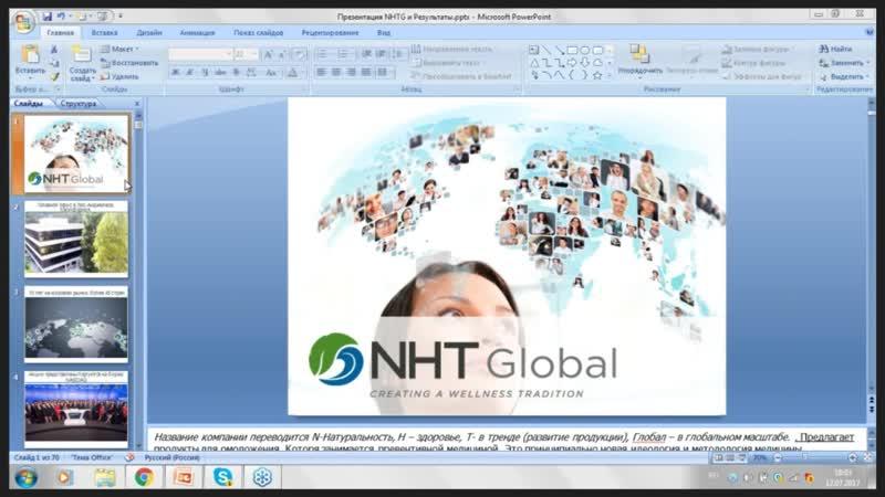 ЗДОРОВЬЕ и МОЛОДОСТЬ с NHT Global. Вебинар Любови Вокуевой.