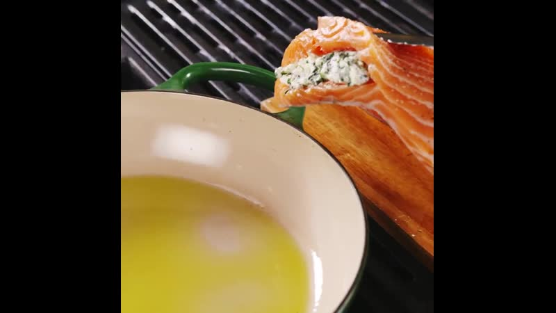 Creamed Spinach Stuffed Salmon
