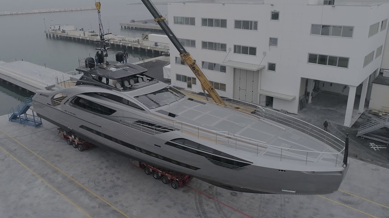Luxury Yacht - Pershing 140 - The Launch Cerimony - Ferretti Group