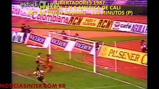 Peñarol 1 x 0 America de Cali - Gol de Aguirre nos últimos segundos