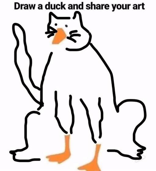 Обычным людям предложили завершить картинку утки