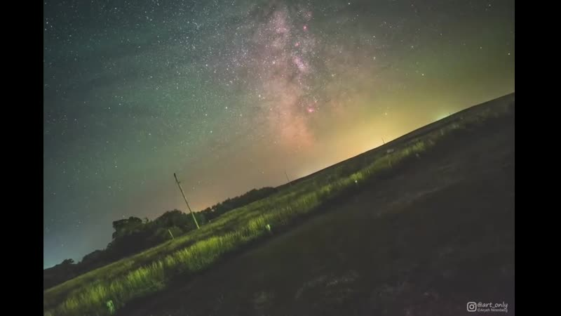 Earth rotation visualized by fixing the Milky way