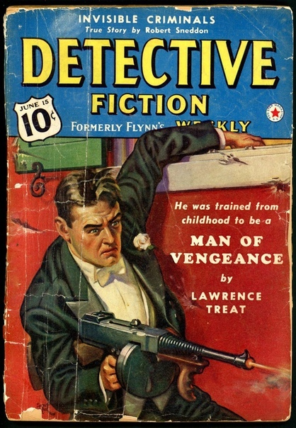 Pulp Fiction Обложки американских бульварных журналов 1940-х годов.