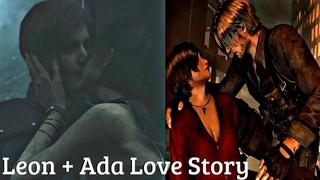 All Ada & Leon Saving Each Other & Flirting Cutscenes + Kiss - Resident Evil Series