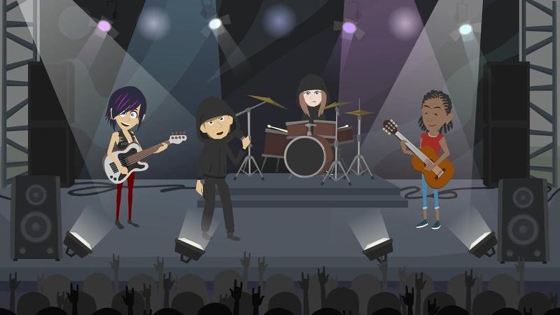 Анимационный мультяшный видео клип заказать