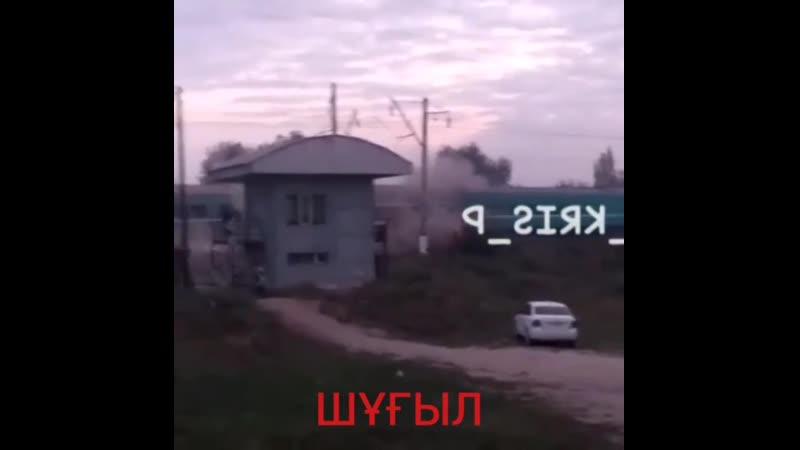 Алматы облысында автобусты пойыз соғып өтті. Төтенше жағдай Ақсеңгір - Шамалған станциясында болған.
