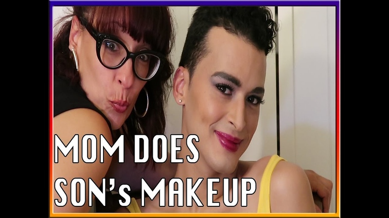 MOTHER APPLIES SON'S MAKEUP TURNED CROSSDRESSER DRAG QUEEN