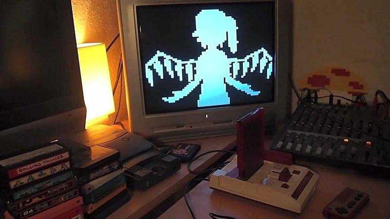 Touhou Bad Apple 8Bit NES Famicom Rendition via Powerpak