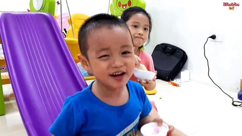 Gia Linh và em Cò tập lái ô tô xe máy khát nước ăn kem