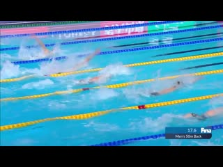 "#SWC19 Kazan - Superb win by Morozov in 50m Back ("")"