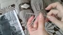 Платье спицами Часть 1 Итальянский набор петель Полая резинка