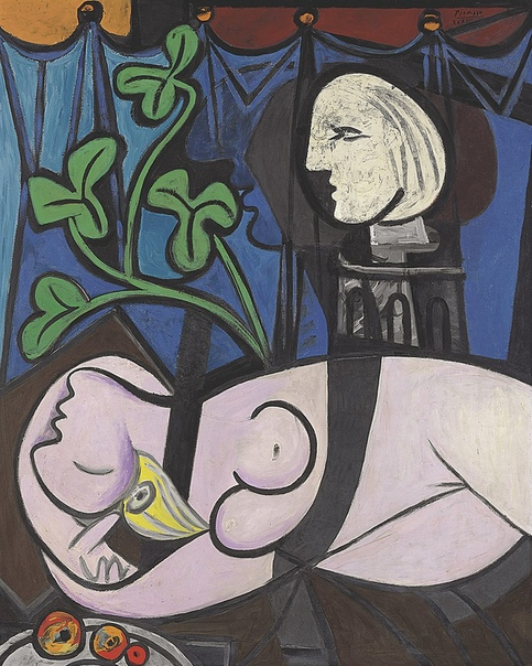 «Обнажённая, зелёные листья и бюст», Пабло Пикассо