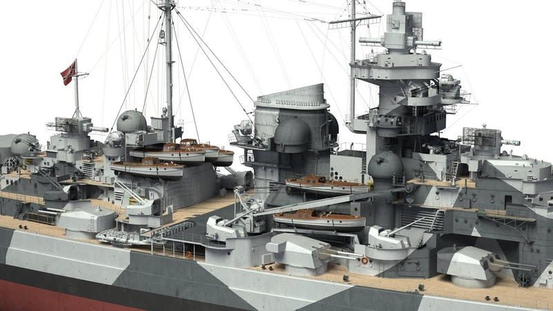 German battleship Tirpitz in 3D Kagero Publishing's book by Stefan Dramiński