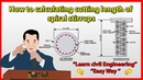 How to calculating cutting length of spiral stirrups