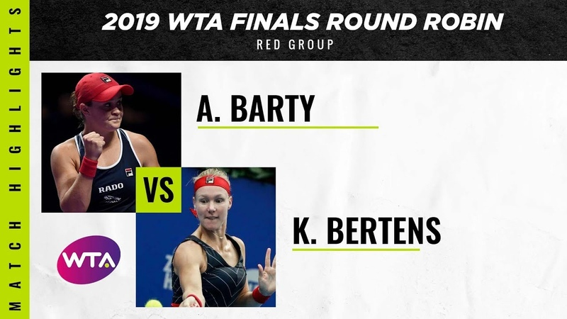 Ashleigh Barty vs. Kiki Bertens | 2019 WTA Finals | WTA Highlights