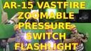 VASTFIRE Zoom Dual Control Remote Pressure Switch Picatinny ar 15 Flashlight 500 Lumens AR Tactical