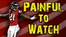 The Falcons defense is PAINFUL to watch