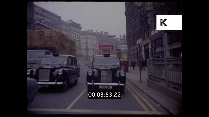 1960s 1970s Knightsbridge Harrods London Driving POVs HD