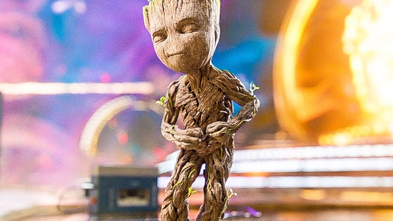 Baby Groot Dance Opening Scene GUARDIANS OF THE GALAXY 2 2017 Movie Clip