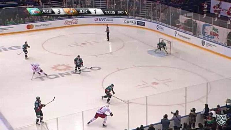 Моменты из матчей КХЛ сезона 17/18/19 • Удаление. Ессе Йоэнсуу (Йокерит) наказан малым штрафом за подножку 28.09