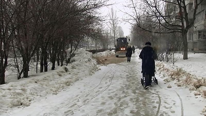 Тольяттинцы жалуются на плохую уборку тротуаров и территорий Новости Тольятти 27 02 2020