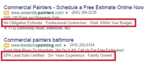 Как использовать расширения Google Ads Callout для повышения вашего CTR, изображение №2