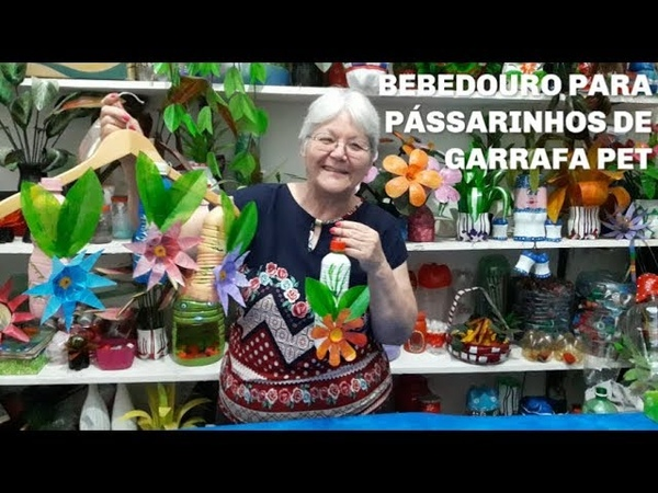 Bebedouro para Passarinhos de Garrafa pet | Vó Neide e suas pets